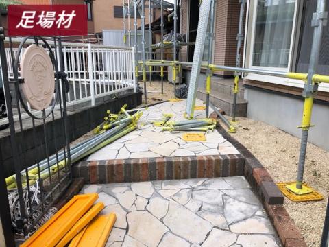 松阪市で足場工事が完了し高圧洗浄作業を行ってきました