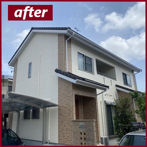 塗装完了後のお家