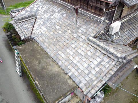 松阪市大津町築60年瓦屋根のお宅の雨漏り調査に行ってきました