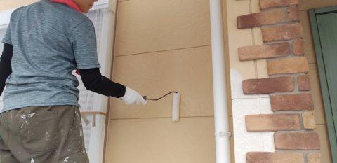松阪市虹ヶ丘町のサイディング壁の外壁塗装と付帯塗装