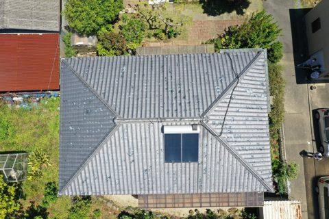 松阪市小津町築30年の丈夫な瓦屋根のお家に現場調査