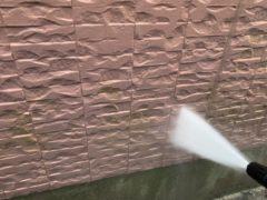 1F外壁洗浄の様子