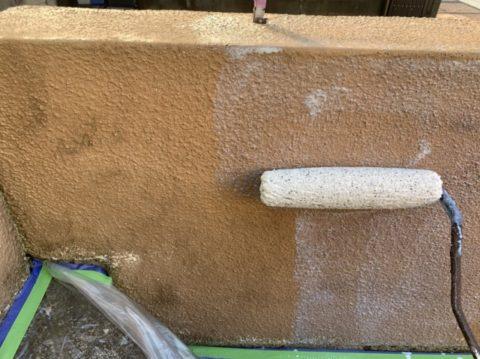 桑名市D様邸塀の定期的な塗り替えも大事です