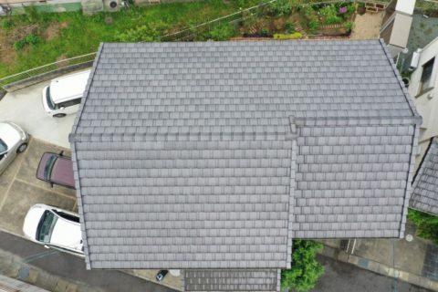 松阪市上川町瓦屋根サイディングボードのお家での現地調査