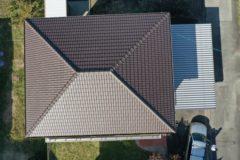 屋根の空撮写真