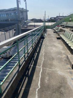 三重県松阪市某競輪場でケレン作業&下塗り作業